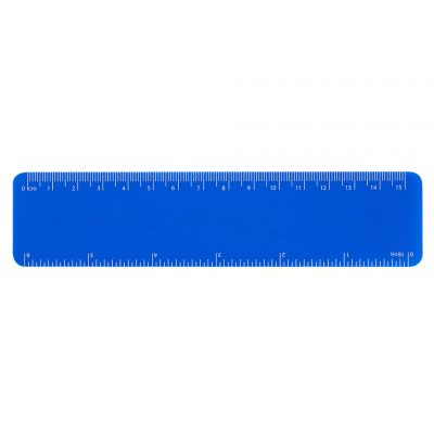 Recycled 15cm Flexi Ruler - Blue