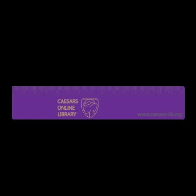 Recycled 15cm Plastic Ruler - Purple
