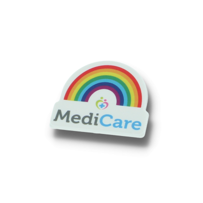 Recycled Rainbow Badge